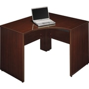Bush Quantum 48W x 42D LH Corner Desk, Harvest Cherry, Fully Assembled