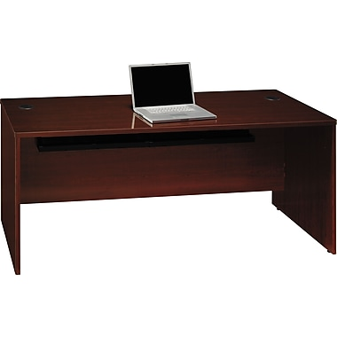 Bush Quantum 72in.W Desk, Harvest Cherry