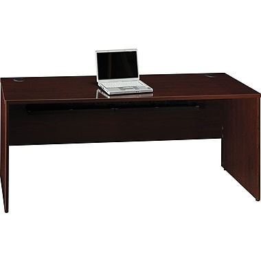Bush Quantum 72in.W Credenza Desk, Harvest Cherry