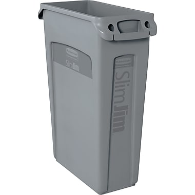 Rubbermaid® SlimJim Container with Venting Channels, Grey