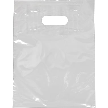 Low Density Patch Handle Bag, Bottom Guesseted, 18in. x 18in., White
