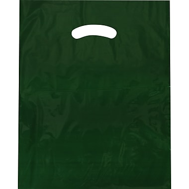 Die-Cut Handle Bag, Flat, Hunter Green, 9