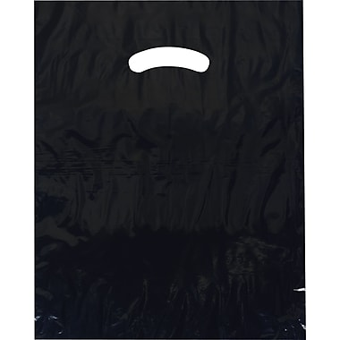 Command Packaging Plastic 18in.H x 15in.W x 4in.D Shopping Bags, Navy