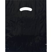 Die-Cut Handle Bags- Bottom Gusseted Bags, 15 x 18 + 4, Navy