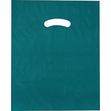Die-Cut Handle Bag, Flat, Teal, 9