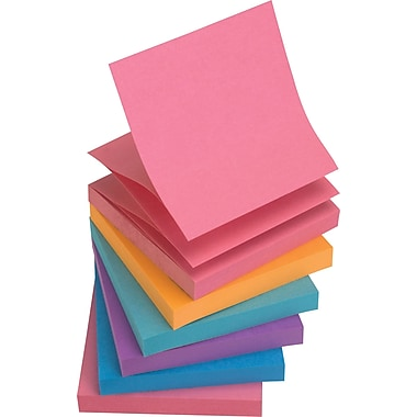Staples® Stickies™ 3 x 3 Assorted Bold Pop-Up Notes, 6/Pack