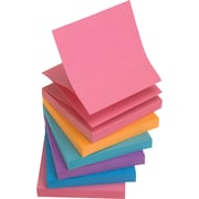 "Staples® Stickies™ Pop-up Notes, 3"" x 3"", Bold Colors, 6 Pads/Pack (S-33BOP6)"