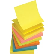 "Staples® Stickies™ Pop-up Notes, 3"" x 3"", Bright Colors, 6 Pads/Pack (S-33BRP6)"
