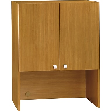 Bush Quantum 30in.W Hutch (Tall), Modern Cherry, Installed
