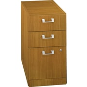 Bush Quantum 3-Drawer Pedestal, Modern Cherry, Fully Assembled