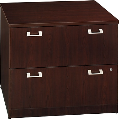 Bush Quantum 36in.W 2-Drawer Lateral File, Harvest Cherry