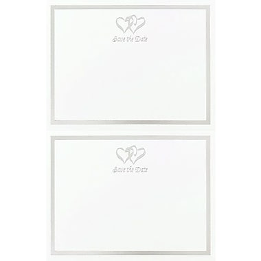 Great Papers® Silver Double Hearts 2-Up Save the Date Cards with Envelopes