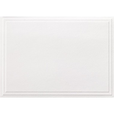 Great Papers Triple Embossed White Note Cards with Envelopes