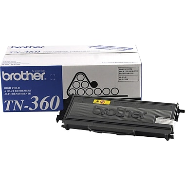 Brother TN-360 Black Toner Cartridge, High Yield 2/Pack