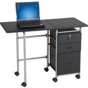 Balt® Fold-N-Stow Computer Desk/Workstation, Black Finish