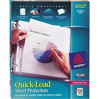 Avery Quick-Load Sheet Protectors, Diamond Clear