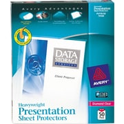 Avery® Heavyweight Presentation Sheet Protectors, 50/Pack