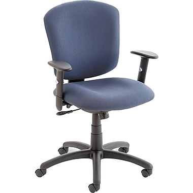 Global Supra X Series Polypropylene Medium Back Multi-Function Swivel/Tilt Chair, Blue