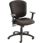 Global Supra X Series Polypropylene Medium Back Multi-Function Swivel/Tilt Chair, Black