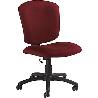 Global Supra X Series Polypropylene Medium Back Armless Task Chair, Burgundy