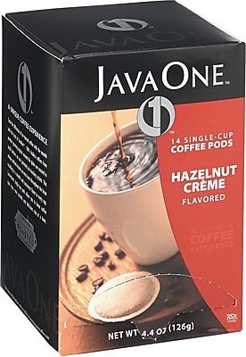 Distant Lands Coffee Coffee Pods, Hazelnut Creme, 0.3 oz, 14/Box (70506) JAV70500