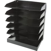 "National Industries Horizontal Desk Organizers, 6 Shelf, Black, 12""W x 9""D"