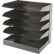 "National Industries Horizontal Desk Organizers, 5 Shelf, Black, 12""W x 9""D"