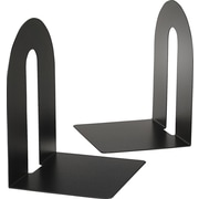 "OIC Heavy-Duty 10"" High Black Bookends, Pair"
