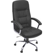 Regency® Carrera Leather Executive High-Back Chair, Black