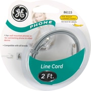 GE 2' Line Phone Cord (Satin Grey)