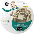 GE 25' Line Phone Cord with Extension Coupler (Ivory)