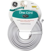 GE 100' Line Phone Cord (White)