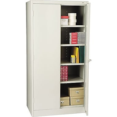 Tennsco Standard Storage Cabinet, 72in.H x 36in.W x 24in.D, Light Gray