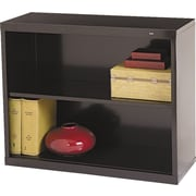 "Tennsco Metal Bookcases, 2-Shelves, 28"", Standard, Black (B-30BK)"