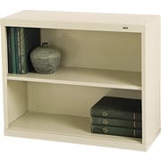"Tennsco Metal Bookcases, 2-Shelves, 28"", Standard, Putty (B-30PY)"