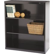 "Tennsco Metal Bookcases, 3-Shelves, 40"", Standard, Black (B-42BK)"
