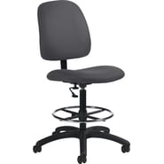 Global Goal® Ergonomic Fabric Drafting Chair, Gray