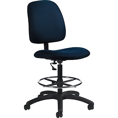 Global Goal® Ergonomic Fabric Drafting Chair, Ocean