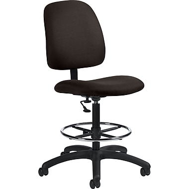Global Goal® Ergonomic Fabric Drafting Chair, Black