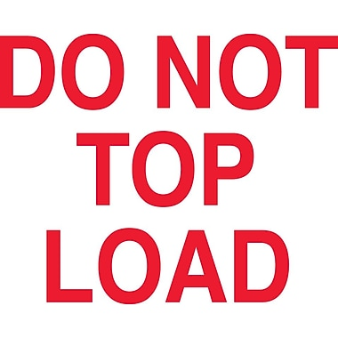 Tape Logic Staples® Do Not Top Load Shipping Label, 3
