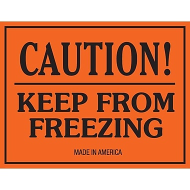 Tape Logic Caution Keep From Freezing Staples® Shipping Label, 3in. x 4in.