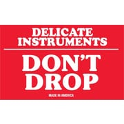 "Tape Logic® Labels, ""Delicate Instruments - Don't Drop"", 3"" x 5"", Red/White, 500/Roll (SCL540)"