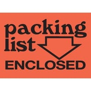 Tape Logic Packing List Enclosed Staples® Shipping Label, 3 x 4, 500/Roll