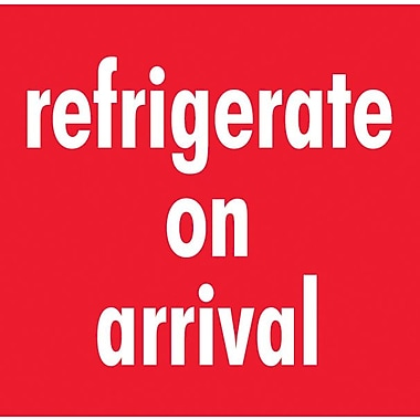 Tape Logic Refrigerate On Arrival Staples® Shipping Label, 4in. x 4in.