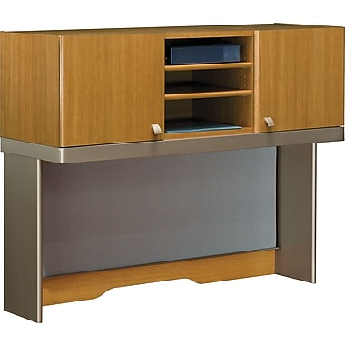 Bush Business Quantum 48W Hutch (Tall), Modern Cherry, Installed
