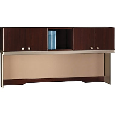 Bush Quantum 72in.W Hutch, Modern Cherry, Fully Assembled