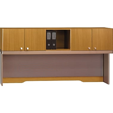 Bush Quantum 72in.W Hutch, Mod Cherry, Fully Assembled