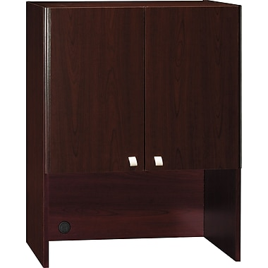 Bush Quantum 30in.W Storage Hutch, Harvest Cherry, Fully Assembled