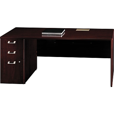 Bush Quantum Series Fully Assembled 72in. Left Credenza with Pedestal
