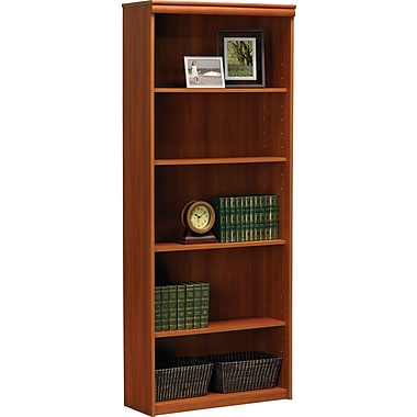 Ameriwood® Tiverton 5-Shelf Bookcase, Expert Plum